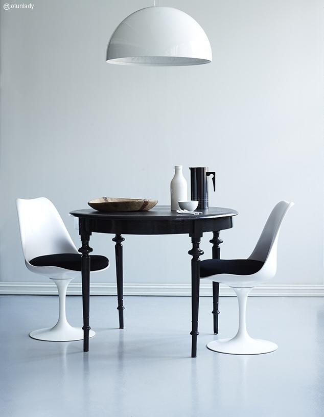Contraste decorativo blanco y negro