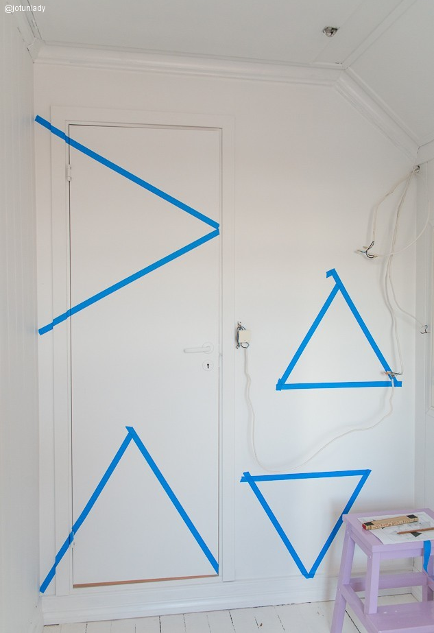 Dibujar triangulos en la pared