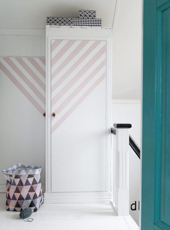 Decorar un armario con rayas'