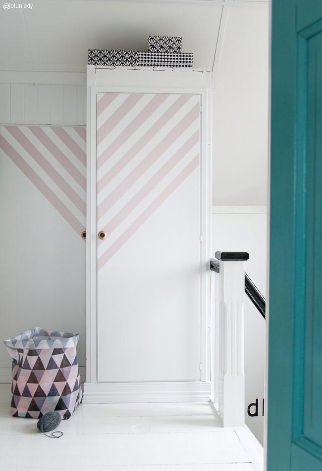 Decorar un armario con rayas