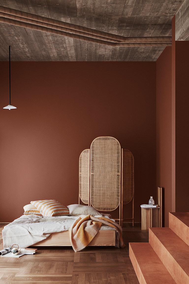 Elige un tono rojizo, elegante y cálido para decorar tu hogar en otoño